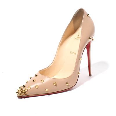 Christian Louboutin Size 39.5 Spike Pointy Toe Pumps