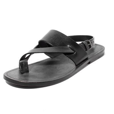 Saint Laurent  Size 38.5 Square Toe Strappy Leather Sandal