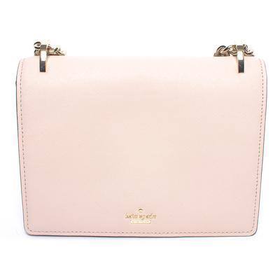 Kate Spade Tan Saffiano Flap Handbag