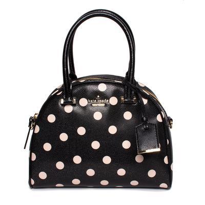 Kate Spade Black Polka Dot Leather Handbag