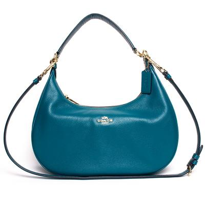 Coach Blue Pebbled Leather Crossbody Bag