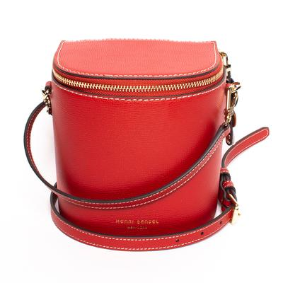 Henri Bendel Red Bower Binocular Crossbody Bag
