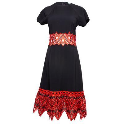 Jonathan Smikahi Size 4 Black Dress