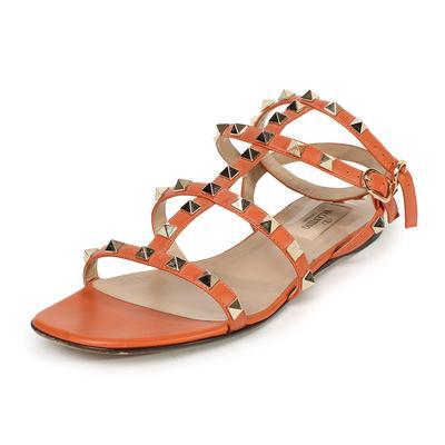 Valentino Size 37 Rockstud Gladiator Sandals