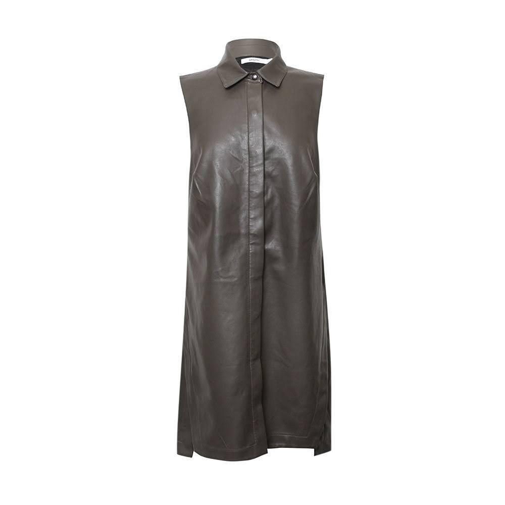 Bailey 44 Size Medium Green Leather Dress