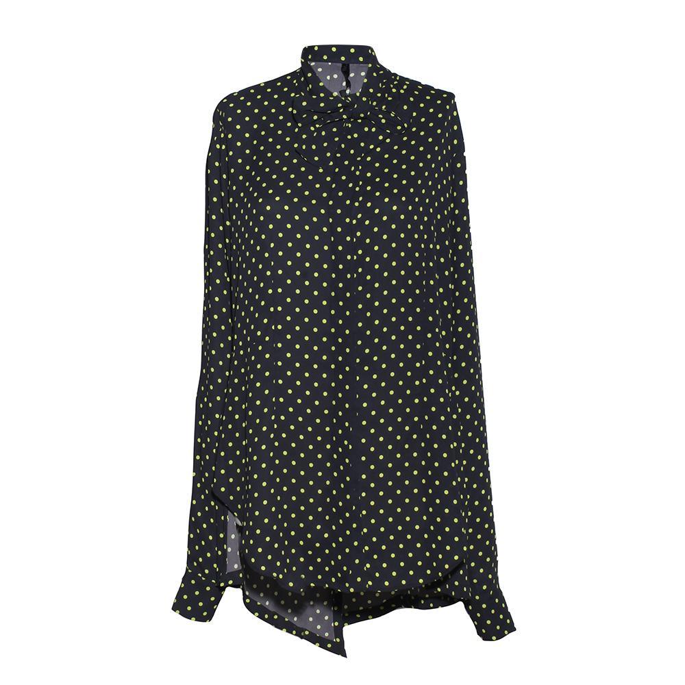 Ben Taverniti Size 40 Unravel Project Polka Dot High Low Top