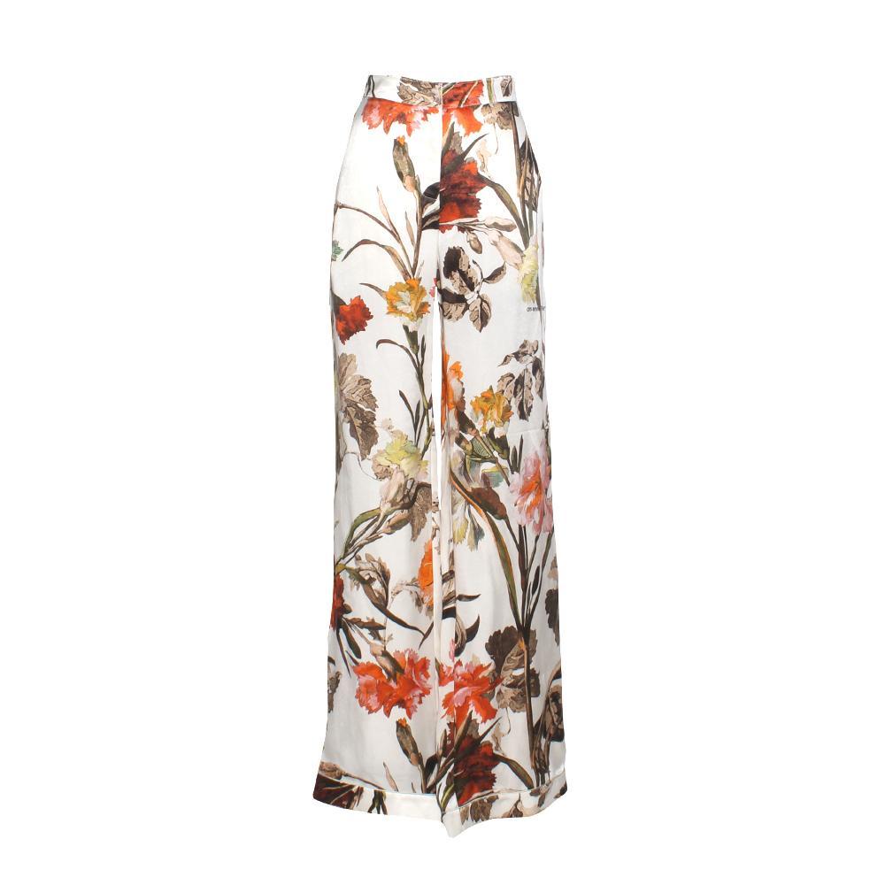 Off White Size 41 Floral Print Pants