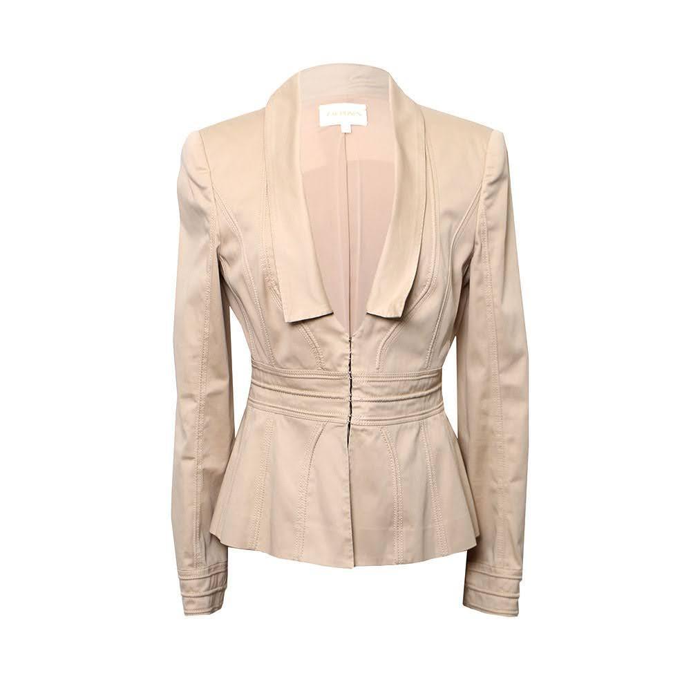 Zac Posen Size Medium Tan Jacket