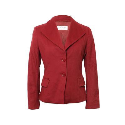 Max Mara Size Small Red Jacket