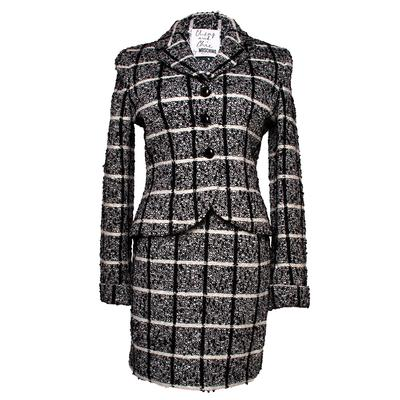 Moschino Size 42 Plait Suit Jacket
