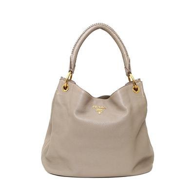 Prada Woven Top Handle Bag