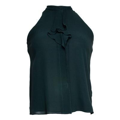 Tory Burch Size 0 Green Silk Top