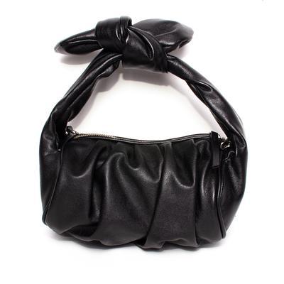 Schutz Black Leather Demi Bag