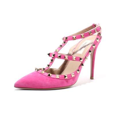 Valentino Size 38 Rockstud Pointy Toe Heel