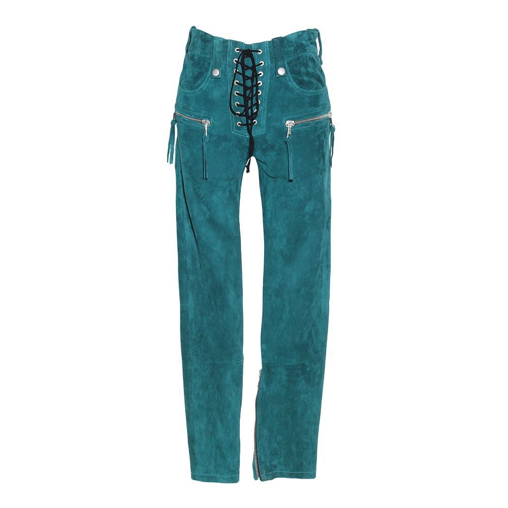 Ben Taverniti Size 27 Unravel Project Green Suede Pants