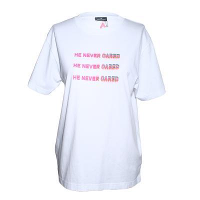 Mercelo Burlon Size XS He Never Cared White TShirt