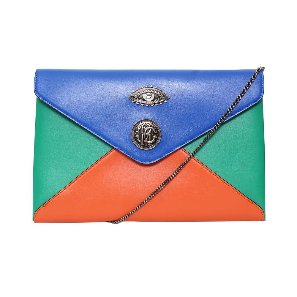 Roberto Cavalli Color Block Envelope