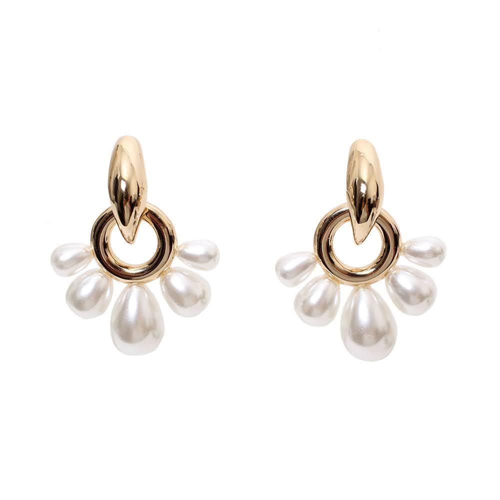 Mignonne Gavigan Gold/Pearl Earrings