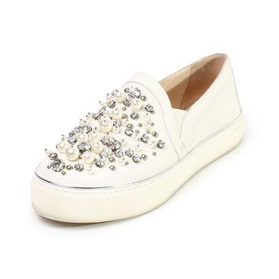 Stuart Weitzman Size 7 Nubuck Slip-On Shoes