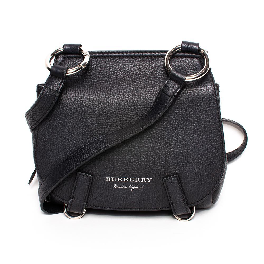 Burberry Black Pebbled Leather Crossbody Bag