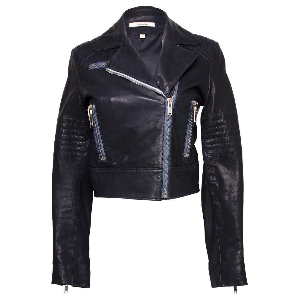 J Brand Size Small Black Moto Jacket