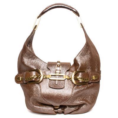 Jimmy Choo Metallic Brown Hobo Bag