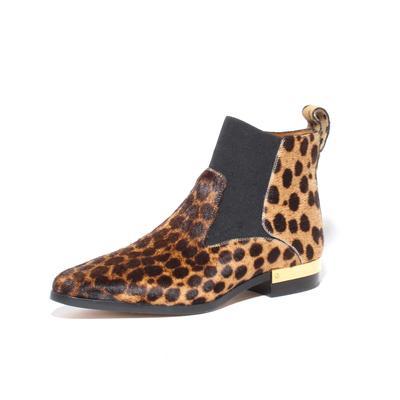 Chloe Size 36 Leopard Print Pony Hair Boots