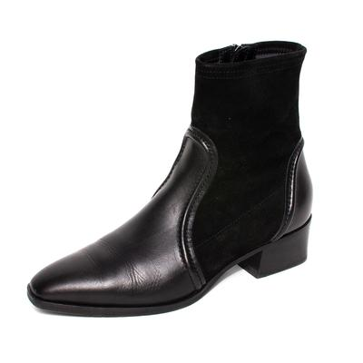 Aquatalia Size 9.5 Black Suede Boot Heels
