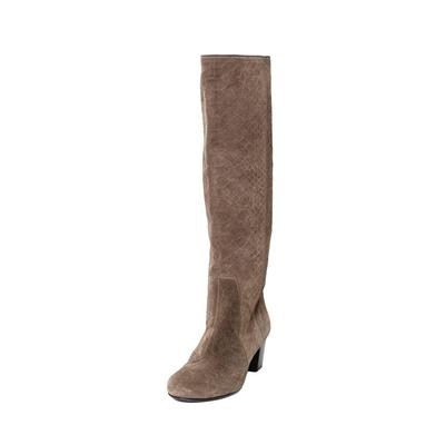 Lanvin Size 38.5 Suede Brown Boots