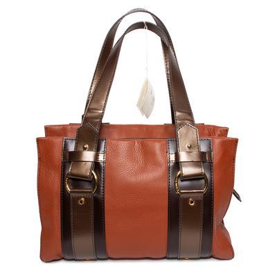 Lancel Brown Cowhide Leather Handbag