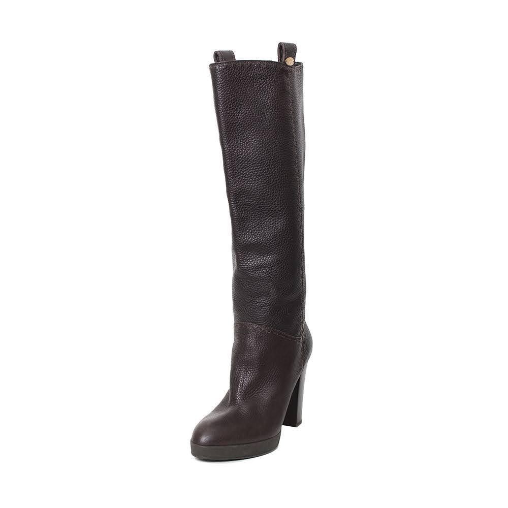 Fendi Size 38.5 Leather Boots