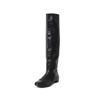 Prada Size 38.5 Black Leather Boots