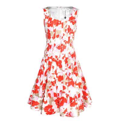 Oscar De La Renta Size 6 Floral Dress