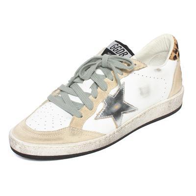 Golden Goose Size 37 White Leather Ballstar Sneakers