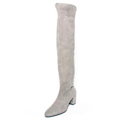 Stuart Weitzman Size 9.5 Grey Suede Thigh High Boots