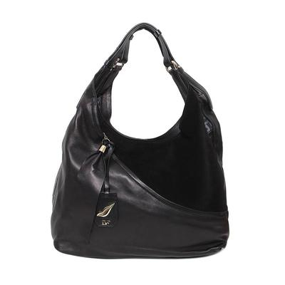 DVF Black Leather Trim Bag
