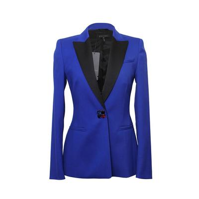 Escada Size 34 Blue and Black Blazer
