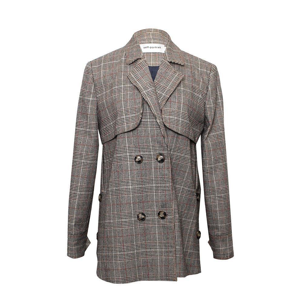 Self Portrait Size Small Tweed Coat