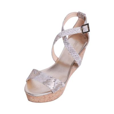 Jimmy Choo Size 38 Gold Wedge Sandals
