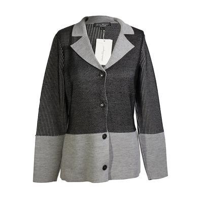 Salvatore Ferragamo Size Medium Striped Jacket
