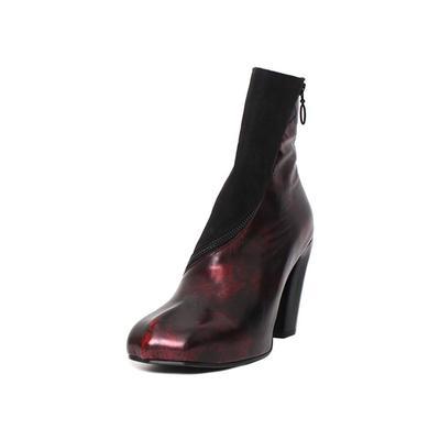 John Fluevog Size 9.5 Black and Red Boots