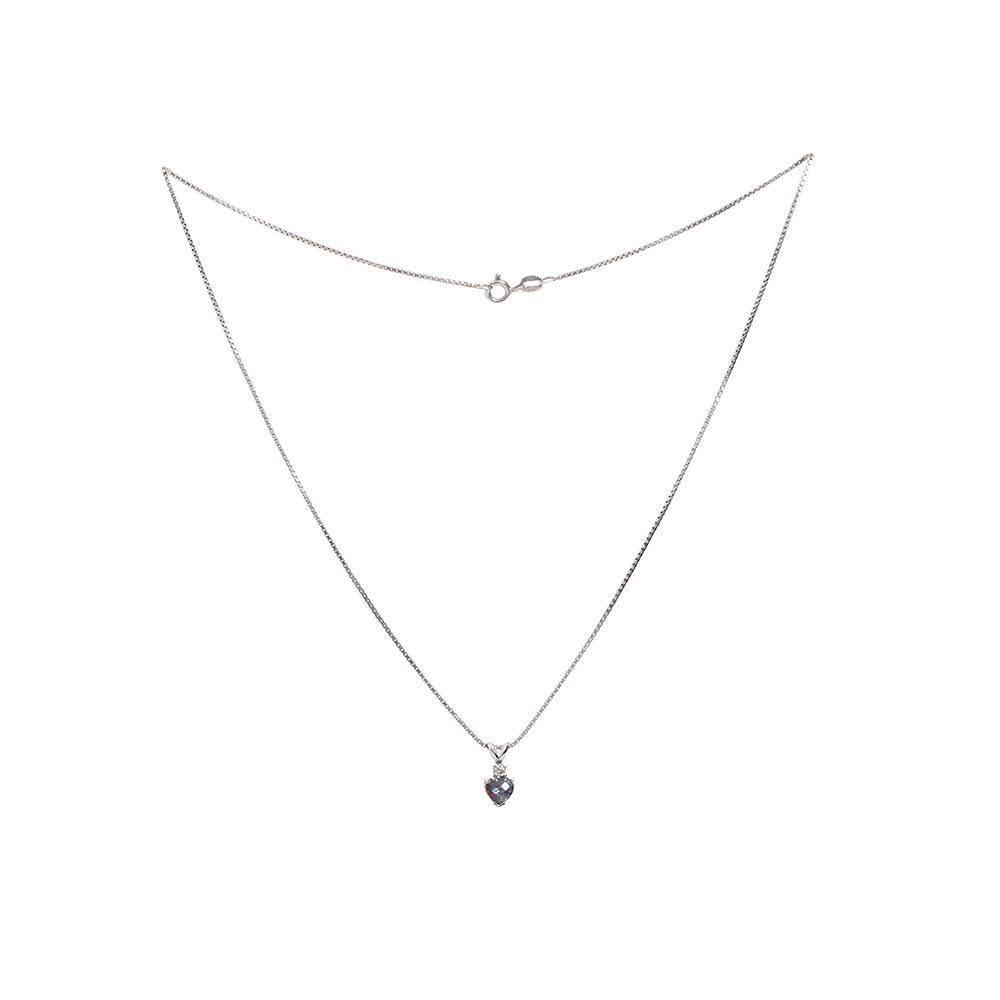 No Label 14k 925 Heart Necklace