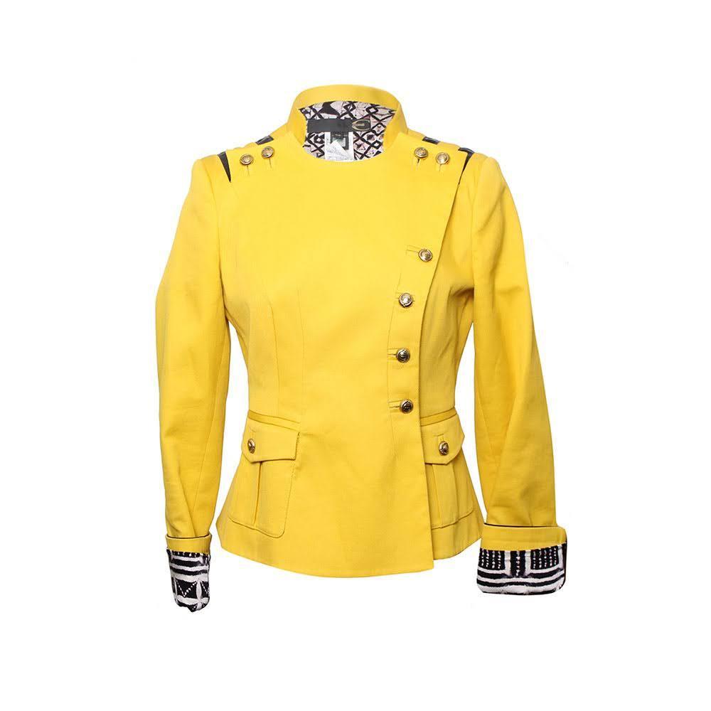 Just Cavalli Size 42 Yellow Jacket