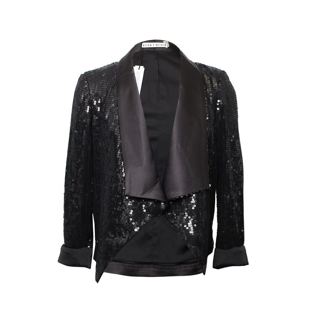 Alice + Olivia Size Xs Sequin Blazer
