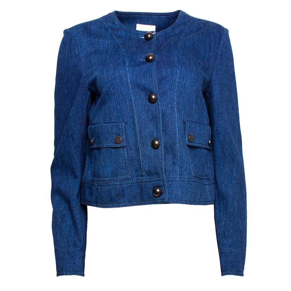 Akris Size 8 Blue Denim Jacket