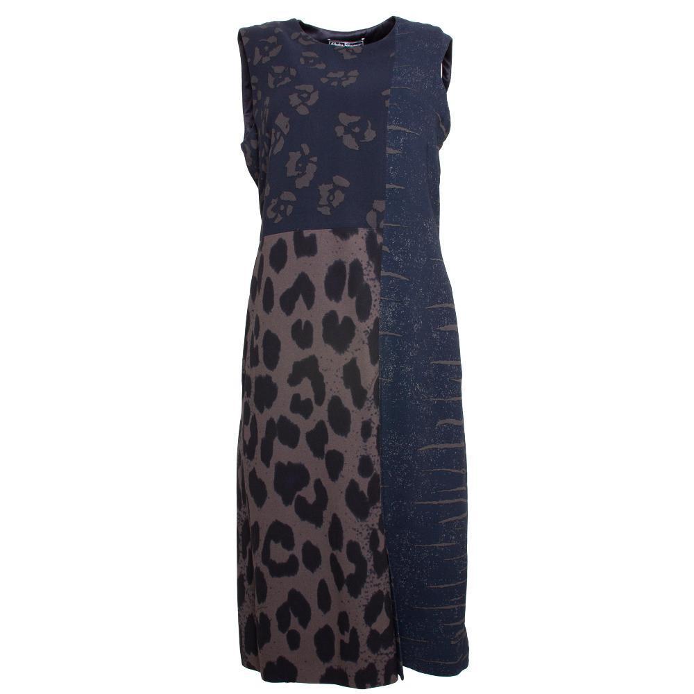 Salvatore Ferragamo Size 4 Navy Dress