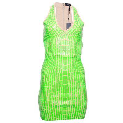 BCBG Size XS Green Vibrant Comb Dress