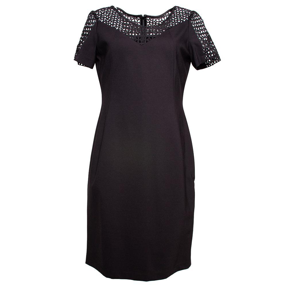Lafayette Size 10 Black Dress