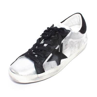 Golden Goose Size 38 Silver Superstar Sneakers