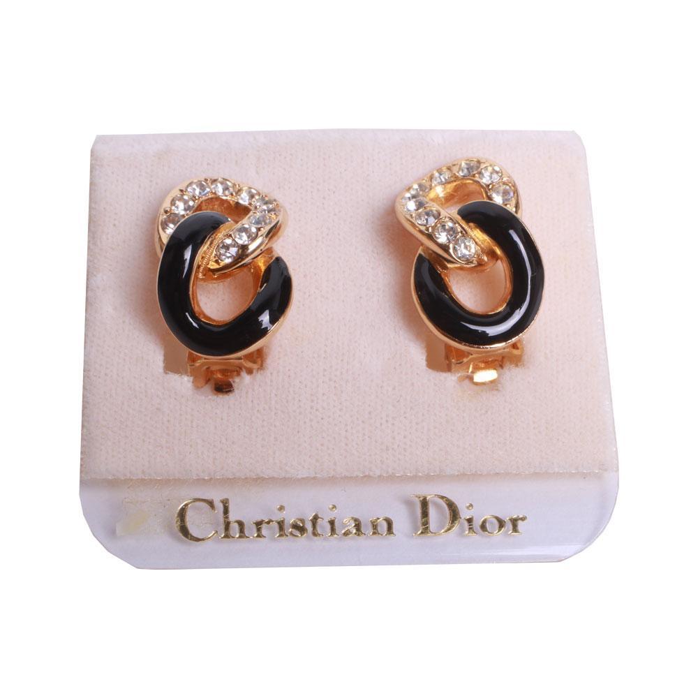 Christian Dior Vintage Clip On Earrings